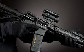 Обои scope, machine gun, band