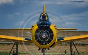 Картинка самолёт, North American, Учебно-тренировочный, Trojan, T-28