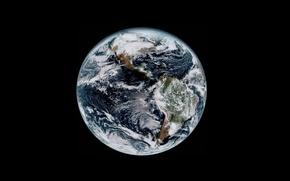 Картинка Земля, облака, планета, фон, материки