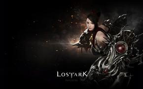 Картинка девушка, фон, чёрный, Lost Ark