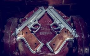 Картинка фон, пистолеты, пара