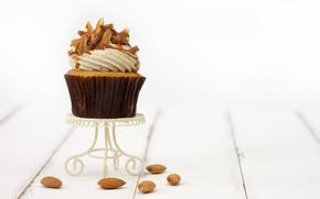 Картинка сладость, орехи, крем, кекс