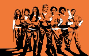 Картинка girl, woman, orange, season 5, tv series, Orange Is The New Black