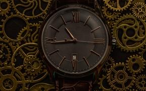 Обои шестеренка, часы, текстура, циферблат, макро