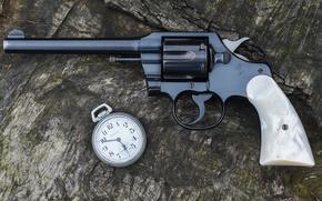 Картинка часы, ствол, Colt, Police