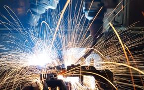 Картинка Sparks, welding, metallurgy