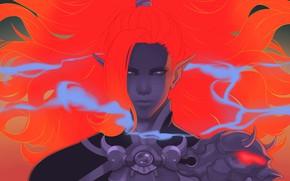 Картинка взгляд, девушка, лицо, волосы, эльф, красота, рыжая