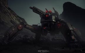 Картинка машина, оружие, Mech concepts