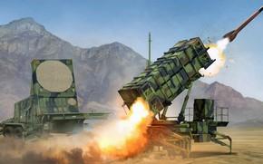 Картинка США, патриот, Patriot, ЗРК, MIM-104, Пэтриот, американский противоракетный комплекс