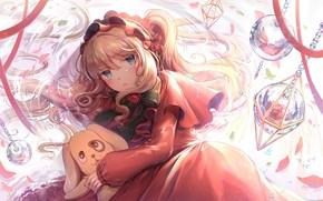 Картинка взгляд, аниме, девочка