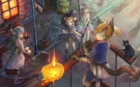 Картинка аниме, арт, Vocaloid, Вокалоид, костюмы, хеллоуин