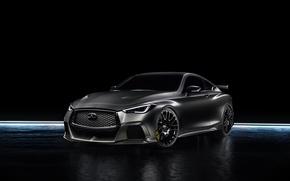 Картинка Infiniti, черный фон, седан, инфинити, Sedan, Q60