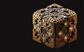 Картинка арт, куб, box, Maxim Goudin