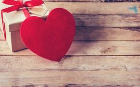 Картинка праздник, сердце, бант, день влюбленных, коробочка