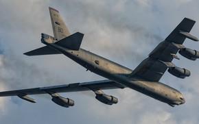 Картинка крылатая машина, Boeing B52H Stratofortress, авиация, боевой самолёт