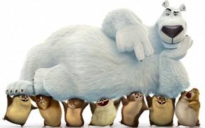 Картинка bear, anima, kuma, animated movie animated film, Norm of the North, Norm