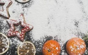 Картинка звезда, печенье, Новый год, Праздник, мука, угощенье