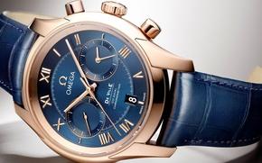 Обои часы, omega, хронометр, de ville