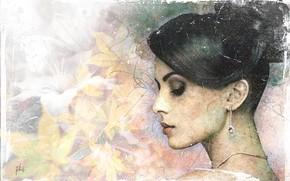 Картинка девушка, настроение, арт, прическа, профиль