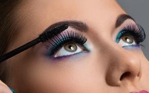 Картинка face, eyelashes, Makeup