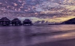 Картинка море, берег, вечер
