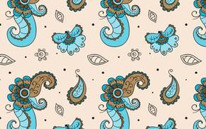 Картинка цветы, орнамент, pattern, floral, batik