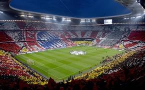 Картинка wallpaper, sport, stadium, football, FC Bayern Munchen, Allianz Arena, UEFA Champions League