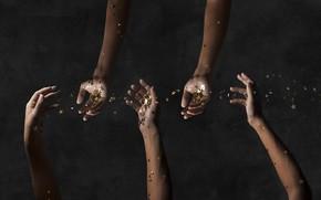 Картинка люди, звёзды, руки