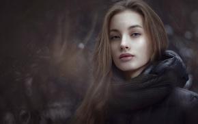 Картинка глаза, взгляд, девушка, портрет, боке