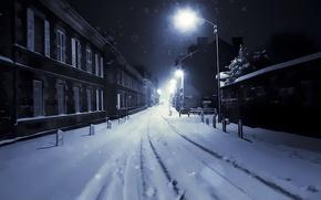 Картинка ночь, темно, картина, Улица, красиво, фонарь, street, paint, lamp, одиноко, nigh