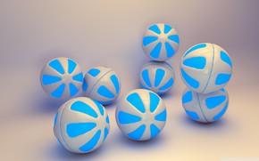 Обои фон, шары, голубые