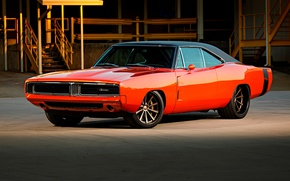 Картинка Dodge, Charger, Wheels, '69, Forgeline, Dropkick