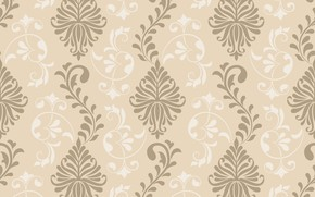 Картинка цветы, орнамент, vintage, design, texture, background, pattern, graphic, ornament, floral, seamless, damask