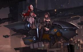 Картинка girl, mecha, weapon, anime, suit, japanese, seifuku, guardian