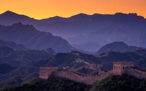 Обои горы, Великая Китайская Стена, Китай
