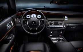 Картинка car, Rolls Royce, Rolls Royce Dawn Black Badge, Steering wheel