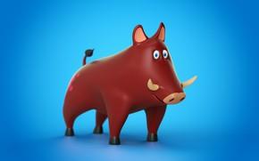 Обои Pig, Cinema 4D, Toy, Animal
