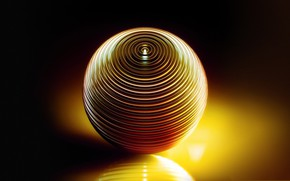 Обои отражение, шар, объем