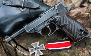 Картинка кобура, AC41, железный крест, Walther P38