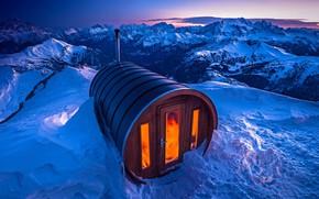 Обои гора Лагазуи, снег, сауна, Италия, Доломитовые Альпы