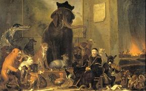 Картинка масло, картина, холст, Корнелис Сафтлевен, Сатира на Суд