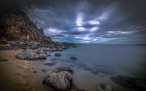 Картинка Самуй, облака, берег, Таиланд, камни, Сиамский залив
