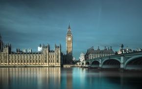 Картинка мост, река, Англия, Лондон, Темза, London, England, Big Ben, Whitehall