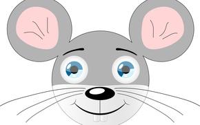 Картинка серый, животное, vector, рисунок, вектор, картинка, pattern, иллюстрация, animal, грызун, picture, gray, mouse, векторная графика, …