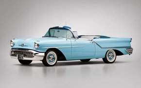 Картинка 1957, Retro, Convertible, Oldsmobile, Golden Rocket 88