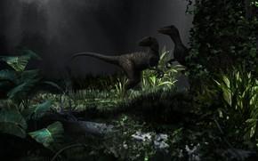 Картинка динозавры, Art, Raptors trap, Alessandro Mastronardi
