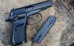 Обои макро, пистолет, оружие, CZ82