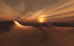 Обои песок, пейзаж, пустыня, бархан