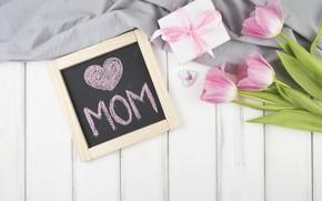 Картинка подарок, Love, тюльпаны, gift, Celebration, Mothers day
