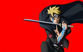 Обои red, sword, Naruto, seal, anime, katana, fight, ken, blade, ninja, asian, manga, shinobi, japanese, oriental, ...